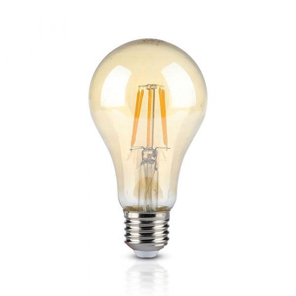 LED FILAMENT spuldze AMBER E27 8W(700Lm) 2300K