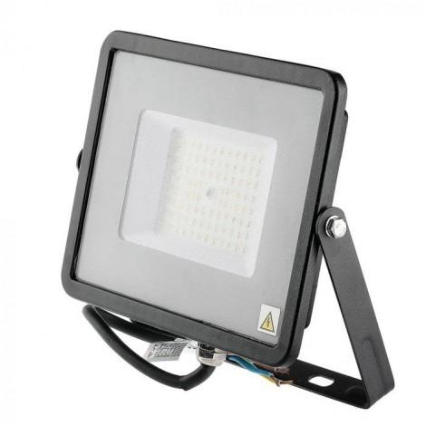 50W (6000Lm) IP65 LED PROŽEKTORS ULTRA SLIM SAMSUNG CHIP 120Lm/W (Melns/Balts)