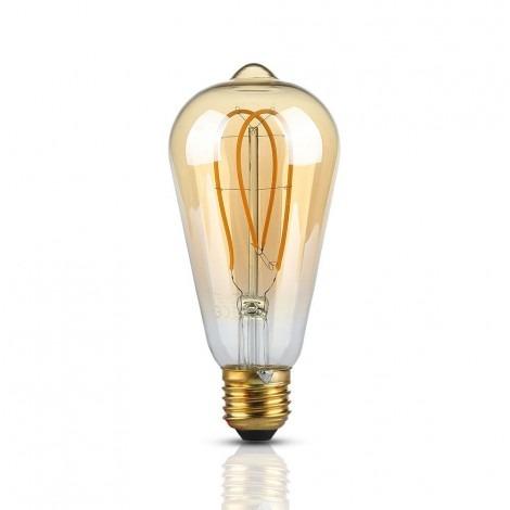 E27 5W (300Lm) LED FILAMENT SPULDZE AMBER, 2200K