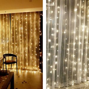 CHRISTMAS LIGHT STRING 300 LED 3X3M WHARM WHITE