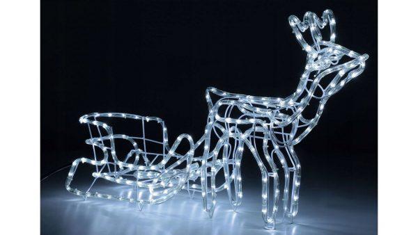Ziemassvetku LED rotājums- Ziemeļbriedis ar kamanām