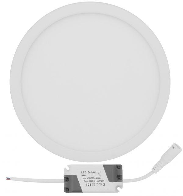 Virsapmetuma LED PANELIS Apaļš 18W