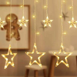 WARM WHITE LED CHRISTMAS STARS 2M / 3M