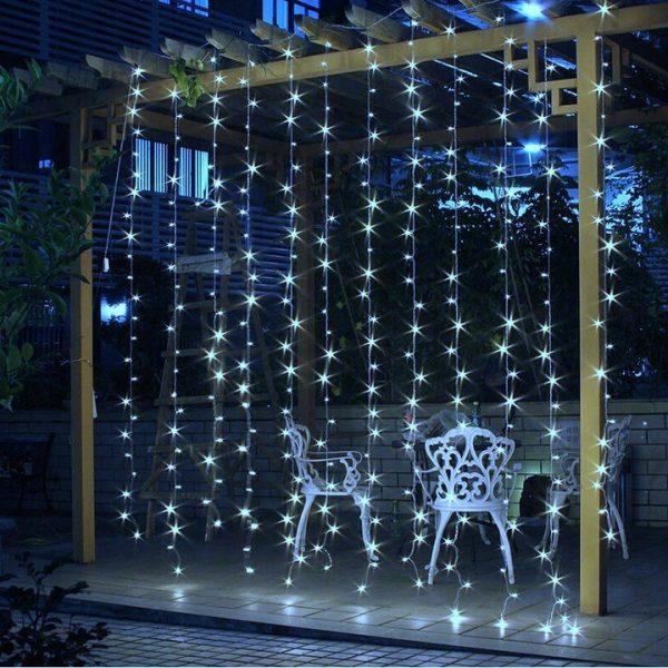 CHRISTMAS LIGHT STRING 304 LED 3X3M NEUTRAL WHITE