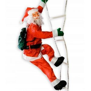 SANTA CLAUS 190 CM ON LED LADDER