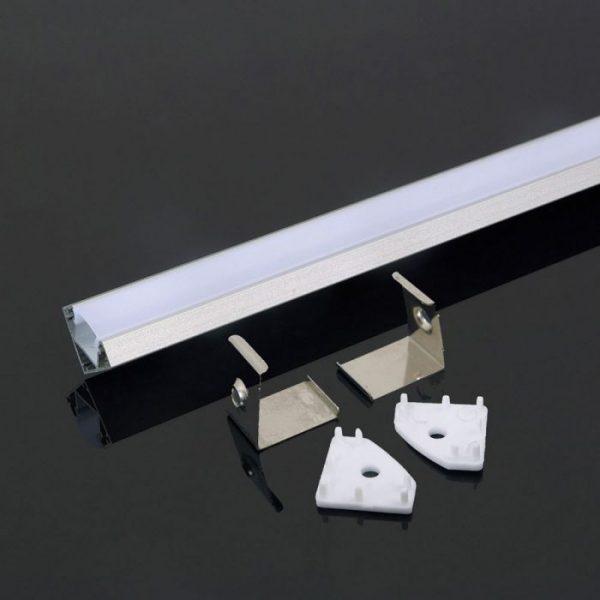 2m alumīnija profils PCB-12mm, V-TAC