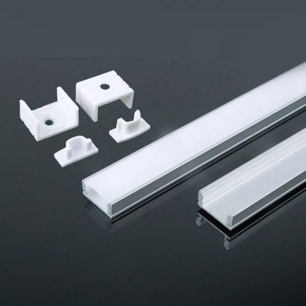 2m alumīnija profils PCB-12mm, balts, V-TAC