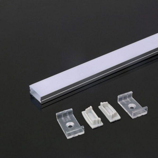 2m alumīnija profils PCB-20mm, balts, V-TAC