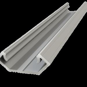 2m 45 grādu profils 8 mm, anodēts sudrabs, lentes maksimālais platums 12 mm