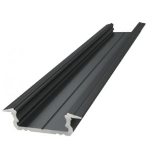 padziļināts ALU profils 6mm, melns lakots, 2020mm, maks. lentes platums 12mm