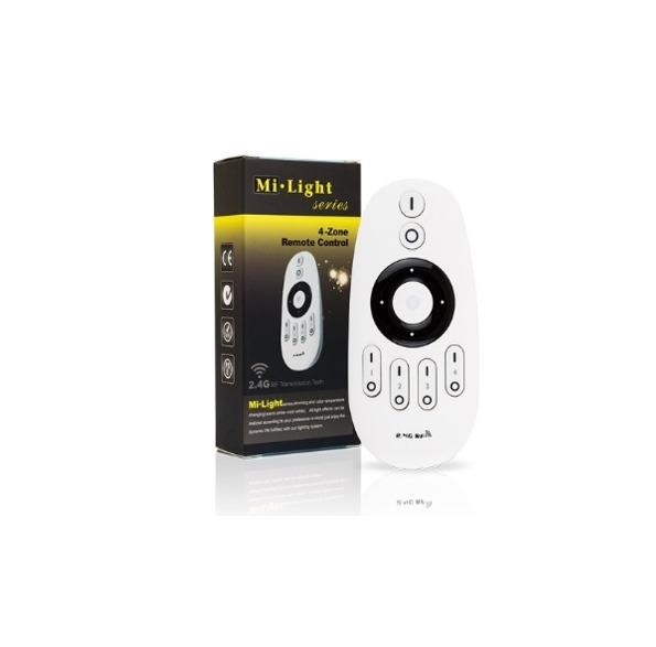 Mi-Light tālvadības pults kontrolierim, 2 kanālu, regulators, CCT, 4 zonu kontrolieris, 2.4G/Wi-Fi/radio vadība