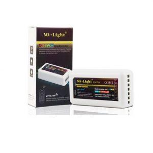 Mi-Light kontrolieris, RGB+CCT 2.4G/Wi-Fi/4 zonu, tālvadības pults, radio vadība, dimmējams, maks. 10A, 1 kanāls maks. 6A