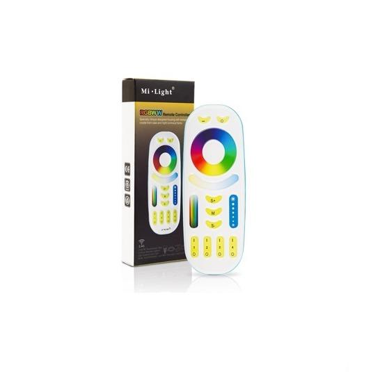Mi-Light tālvadības pults kontrolierim, skārienjūtīga, RGB/RGBW/RGB+CCT, 4 zonu, 2.4G/Wi-Fi/touch, radio vadība