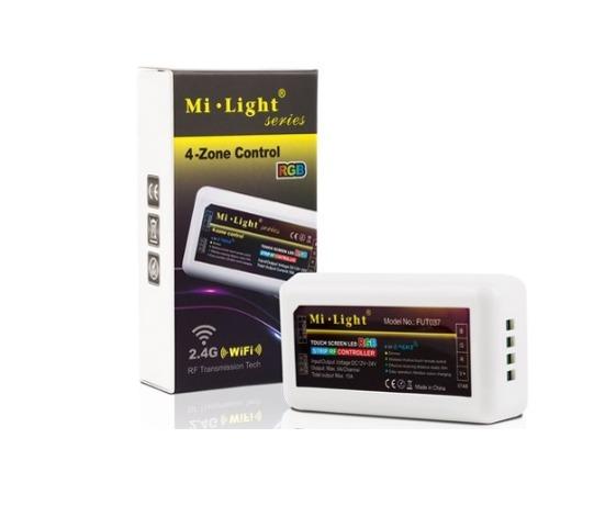 Mi-Light kontrolieris, RGBW, 2.4G/Wi-Fi/4 zonu, tālvadības pults, radio vadība, dimmējams, max10A, 1 kanāls maks. 6A