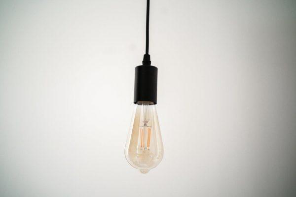 E27 4W(360Lm) LED Spuldze Filament Retro Amber, ST64, 2500K