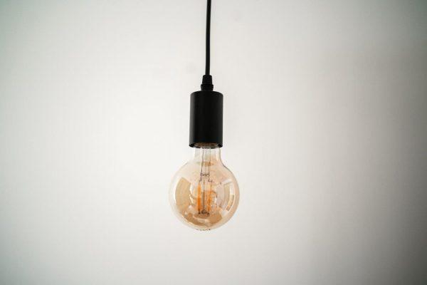 E27 4W(360Lm) G80, LED Spuldze Filament AMBER, silti balta gaisma 2500K