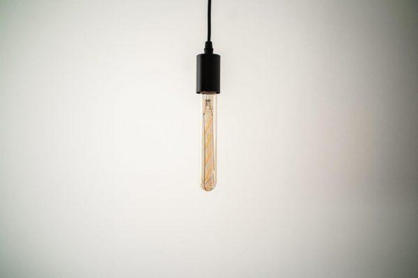 E27 4W (360Lm) LED spuldze Filament Retro Amber, T30, 18.5cm, silti balta gaisma, 2700K