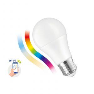 SMART LED spuldze, 9W E-27 Wi-Fi RGBW CCT DIMM