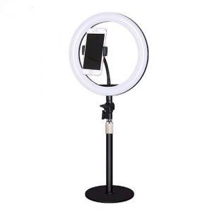 XO tālruņa statīvs ar 25cm LED gaismu,  melns
