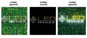 LED izkārtnes, uzraksti, logo