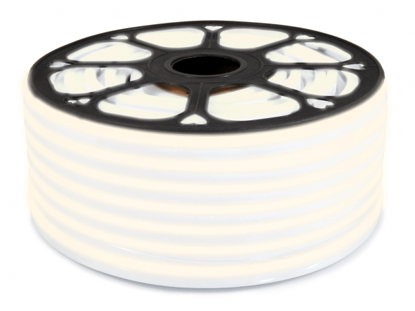 LED Neon Flex 24V   2835   120LED   1m   IP67   SILTI BALTS 3000K  